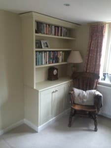 Puffin Woodwork alcove bookcase